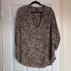 Torrid leopard Harper blouse